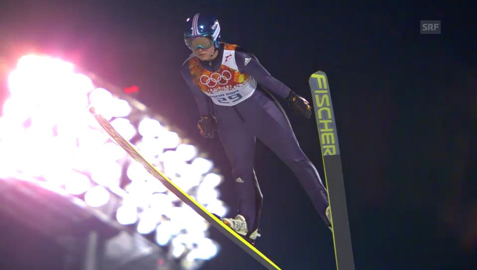 Skispringen Frauen: Olympia Sotschi, Sieg Carina Vogt