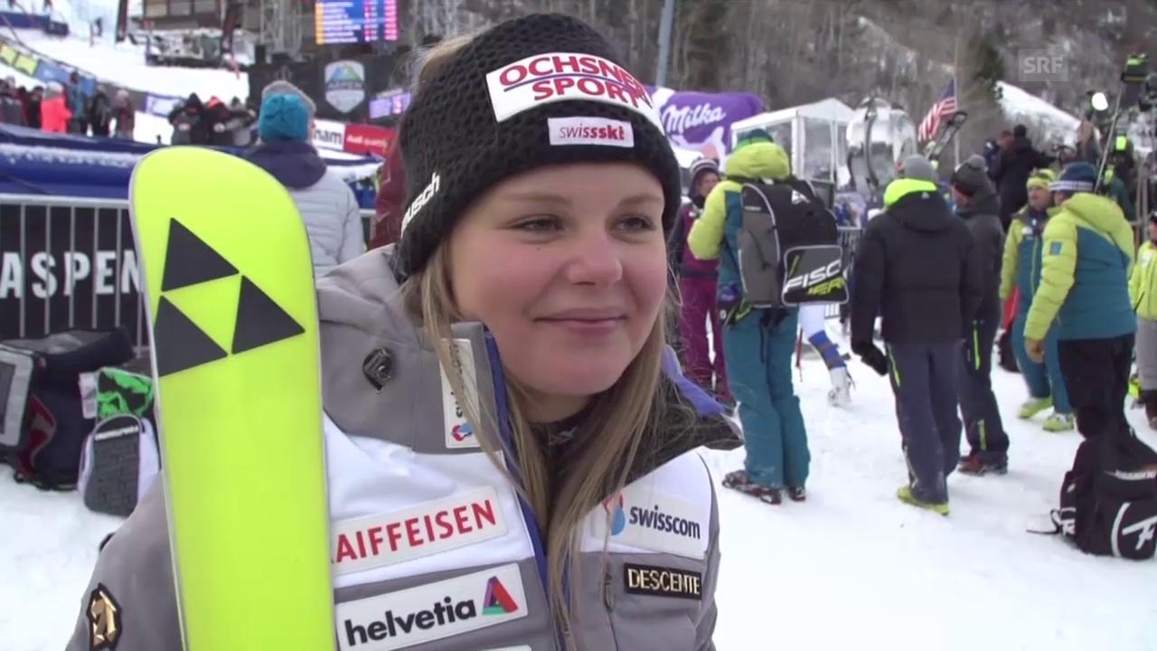 Ski: Slalom Aspen, Interview Charlotte Chable