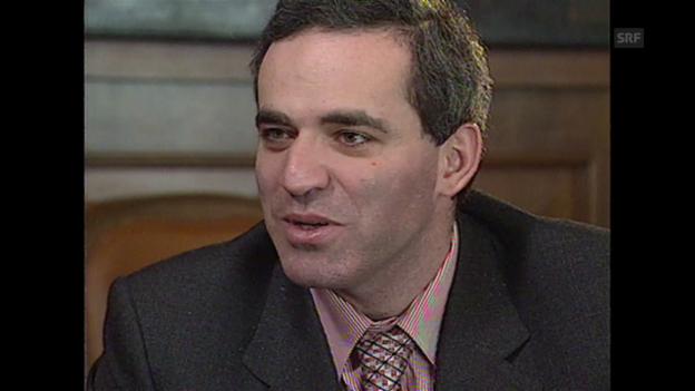 Video «Kasparow vor dem Spiel: «Die Erotik des Schachs ist unereichbar»» abspielen