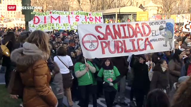 Massenprotest in Spanien