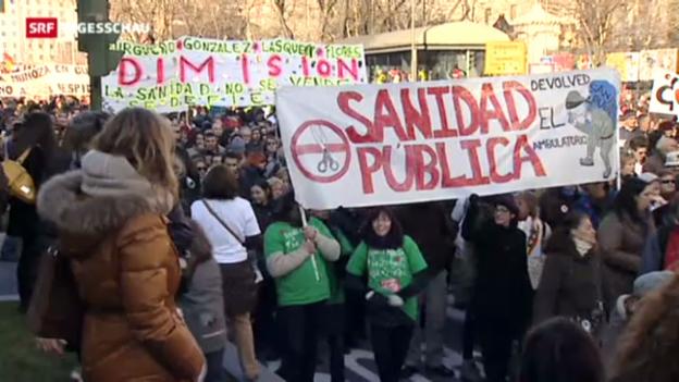 Video «Massenprotest in Spanien» abspielen