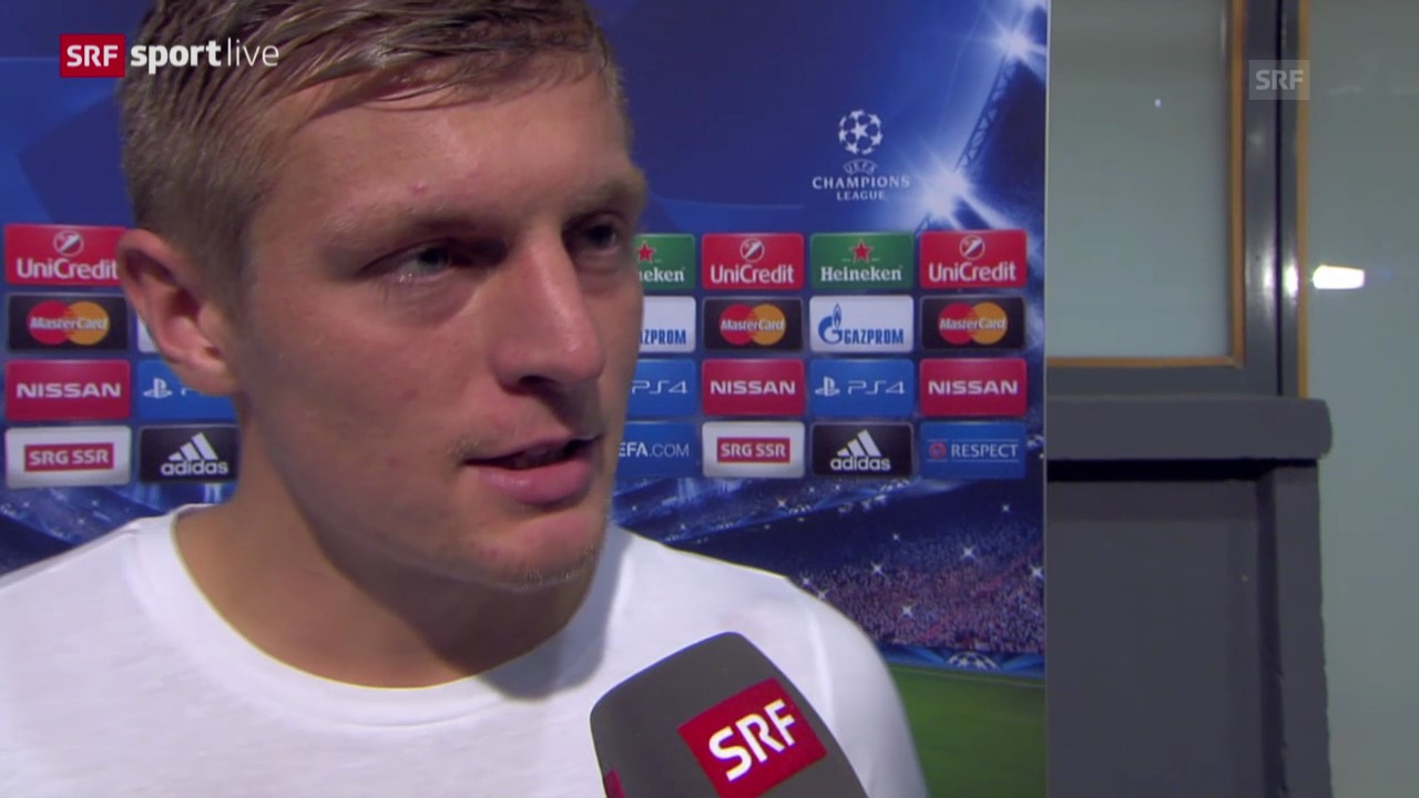 Fussball: Champions League, Real Madrid - FC Basel, Interview mit Toni Kroos