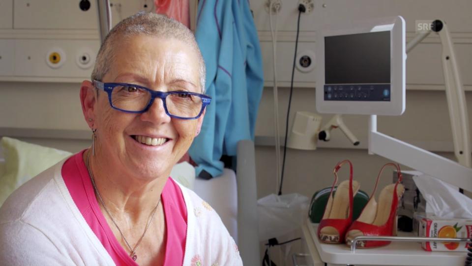 Doris Wieland vor und nach der OP