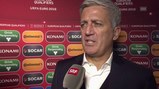 Video «Fussball: EURO-Quali, Estland - Schweiz, Interview Petkovic» abspielen