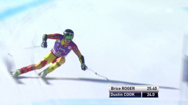 Video «Ski: Super-G Männer in Méribel, Fahrt von Cook» abspielen