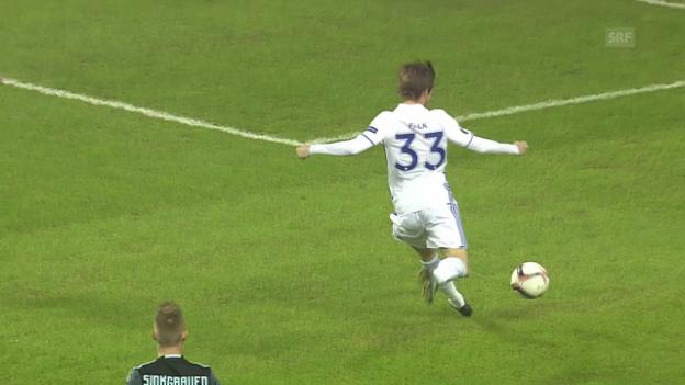 Video «Nach 27 Sekunden: Kopenhagens Blitztor gegen Ajax» abspielen