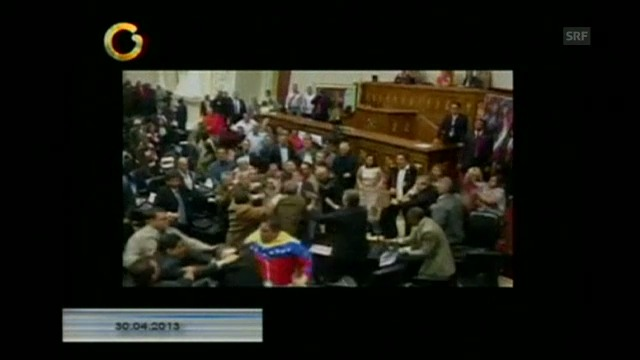 Parlamentarier schlagen sich