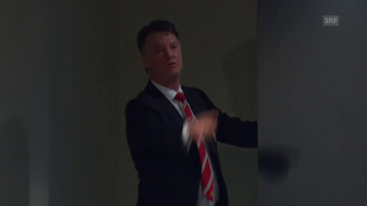 Louis van Gaal attackiert einen Journalisten verbal