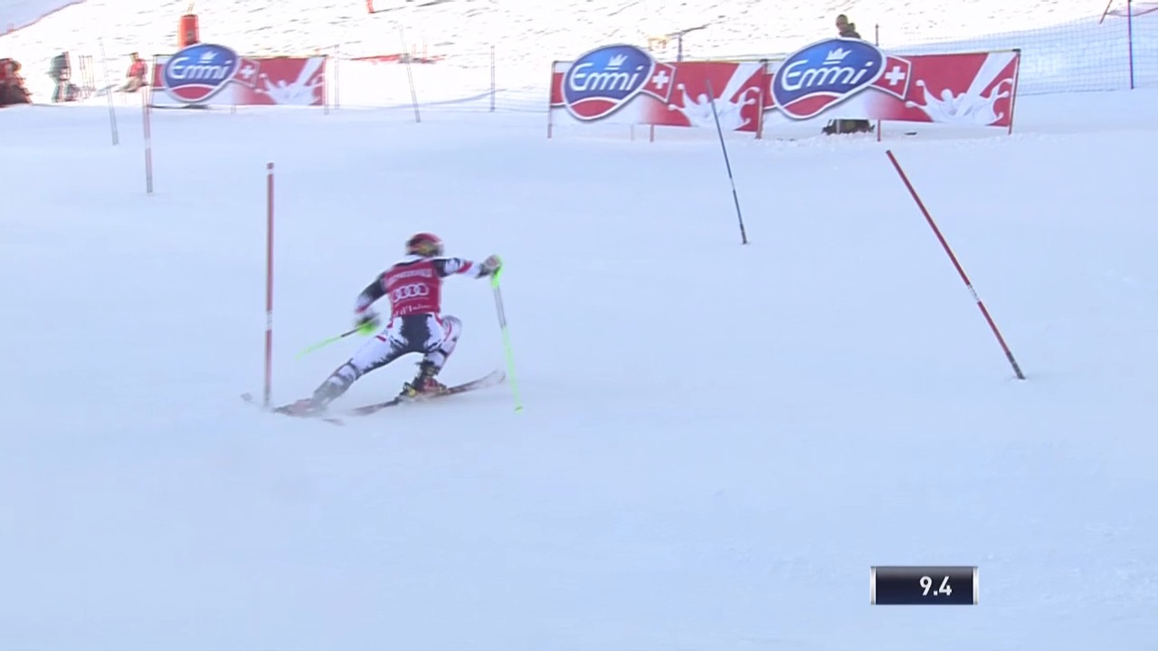 Ski alpin: Slalom Männer Val d'Isère, Marcels Hirschers Beinahe-Ausfall («sportlive», 15.12.2013)