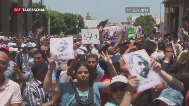 Video «Proteste in Marokko» abspielen