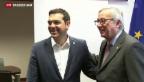 Video «Juncker spricht wieder mit Tsipras» abspielen