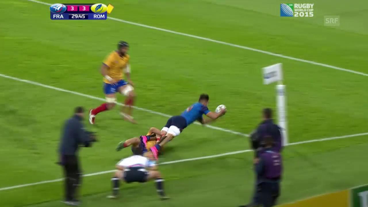Rugby: Gruppe D, Frankreich - Rumänien, die Highlights
