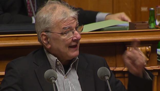 Video «Vischer über Misstrauensvotum gegen Richter» abspielen