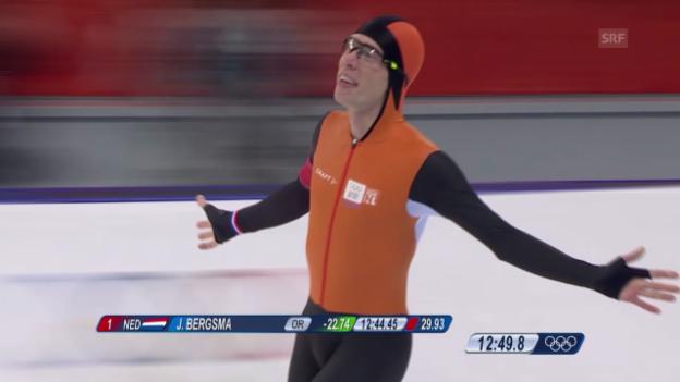 Video «Eisschnelllauf: Zusammenfassung 10'000 m (18.02.2014)» abspielen