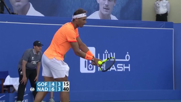 Video «Nadal - Goffin: Die besten Punkte (Quelle SNTV)» abspielen