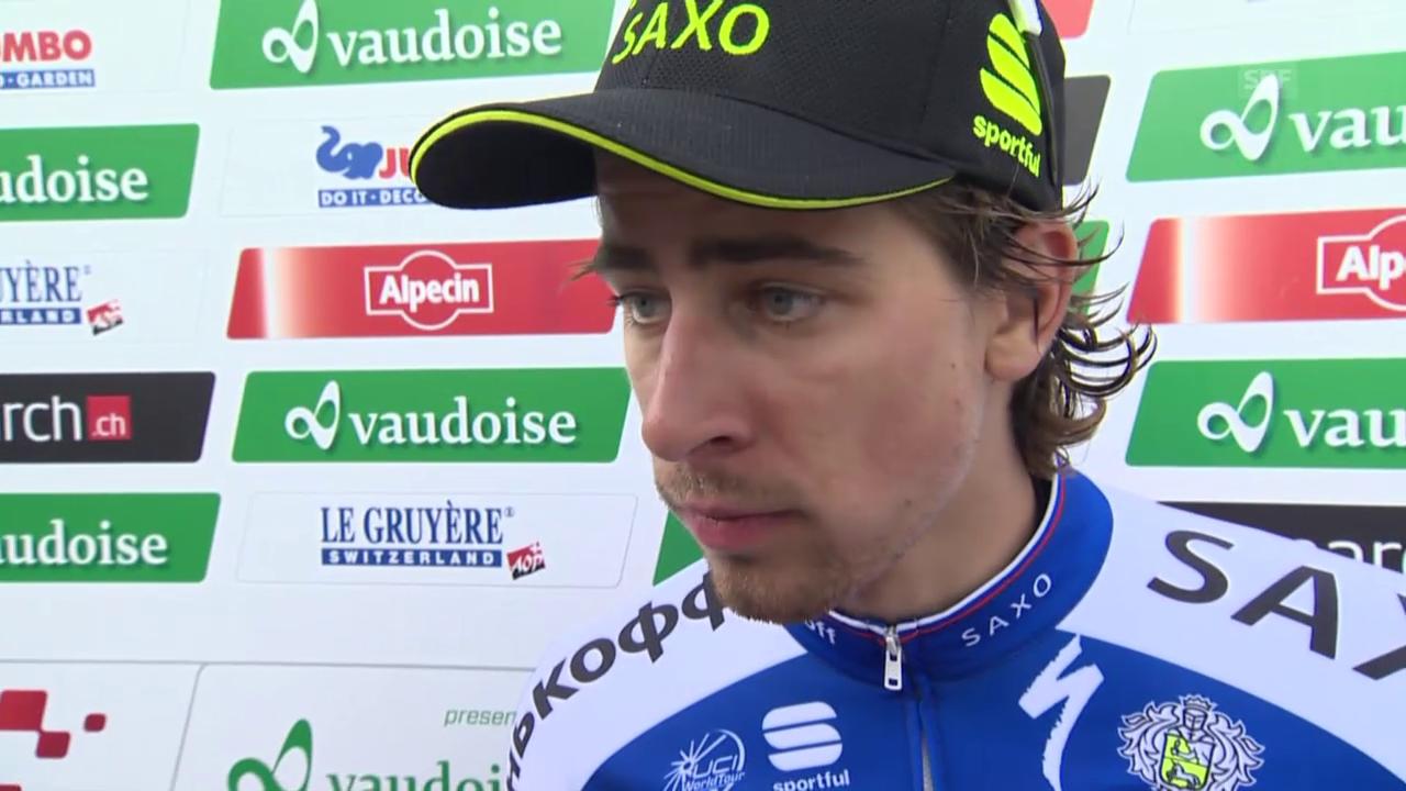 Rad: Tour de Suisse, 6. Etappe, Interview mit Peter Sagan
