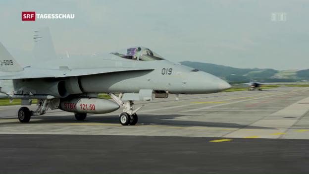 Video «Kampfjet-Einsatz wegen Fehlalarm» abspielen
