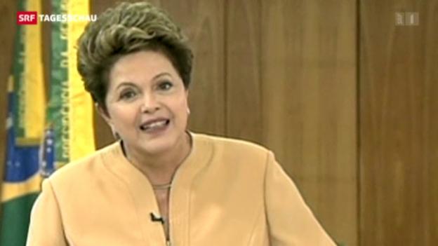 Video «Rousseff reagiert auf Proteste» abspielen