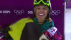 Video «Snowboard Halfpipe: Der Silber-Run von Torah Bright (sotschi direkt, 12.02.2014)» abspielen
