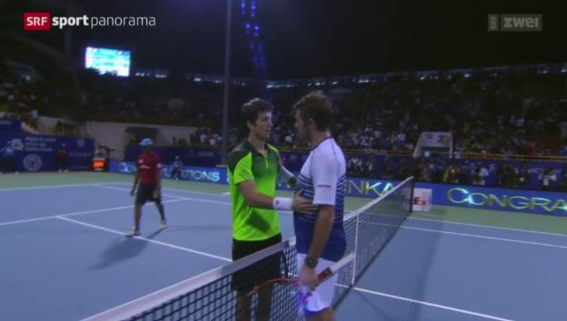 Video «Tennis: ATP-Turnier in Chennai, Final: Wawrinka - Bedene» abspielen