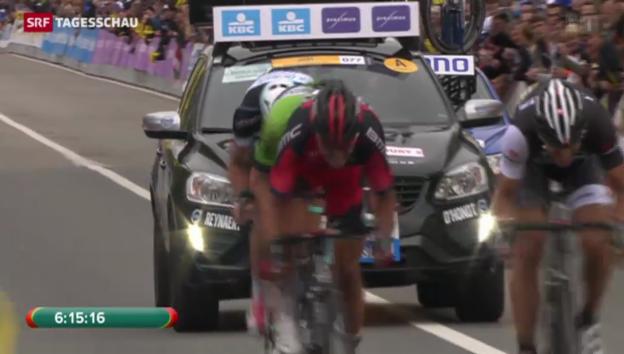 Video «Cancellara gewinnt Flandernrundfahrt zum dritten Mal» abspielen