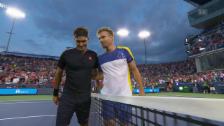 Link öffnet eine Lightbox. Video Federer souverän eine Runde weiter abspielen