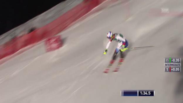 Video «Ski alpin: Super-Kombi in Kitzbühel, Slalom-Lauf von Mauro Caviezel» abspielen