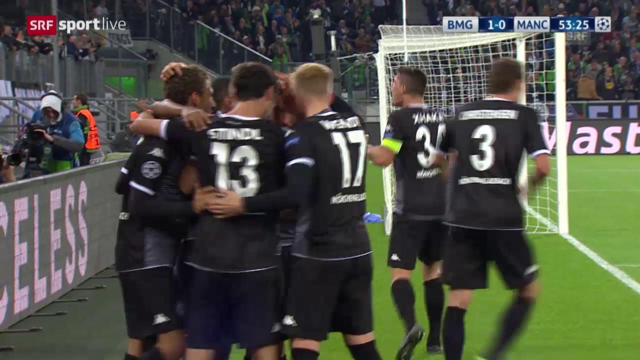 Fussball: Champions League, Gladbach – Manchester City, 1:0 durch Stindl