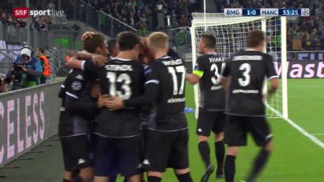 Video «Fussball: Champions League, Gladbach – Manchester City, 1:0 durch Stindl» abspielen