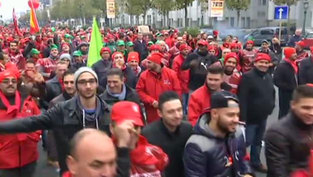 Video «In Brüssel demonstrieren 100'000 Menschen» abspielen