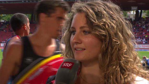 Video «Leichtathletik: Interview mit Anna Katharina Schmid» abspielen
