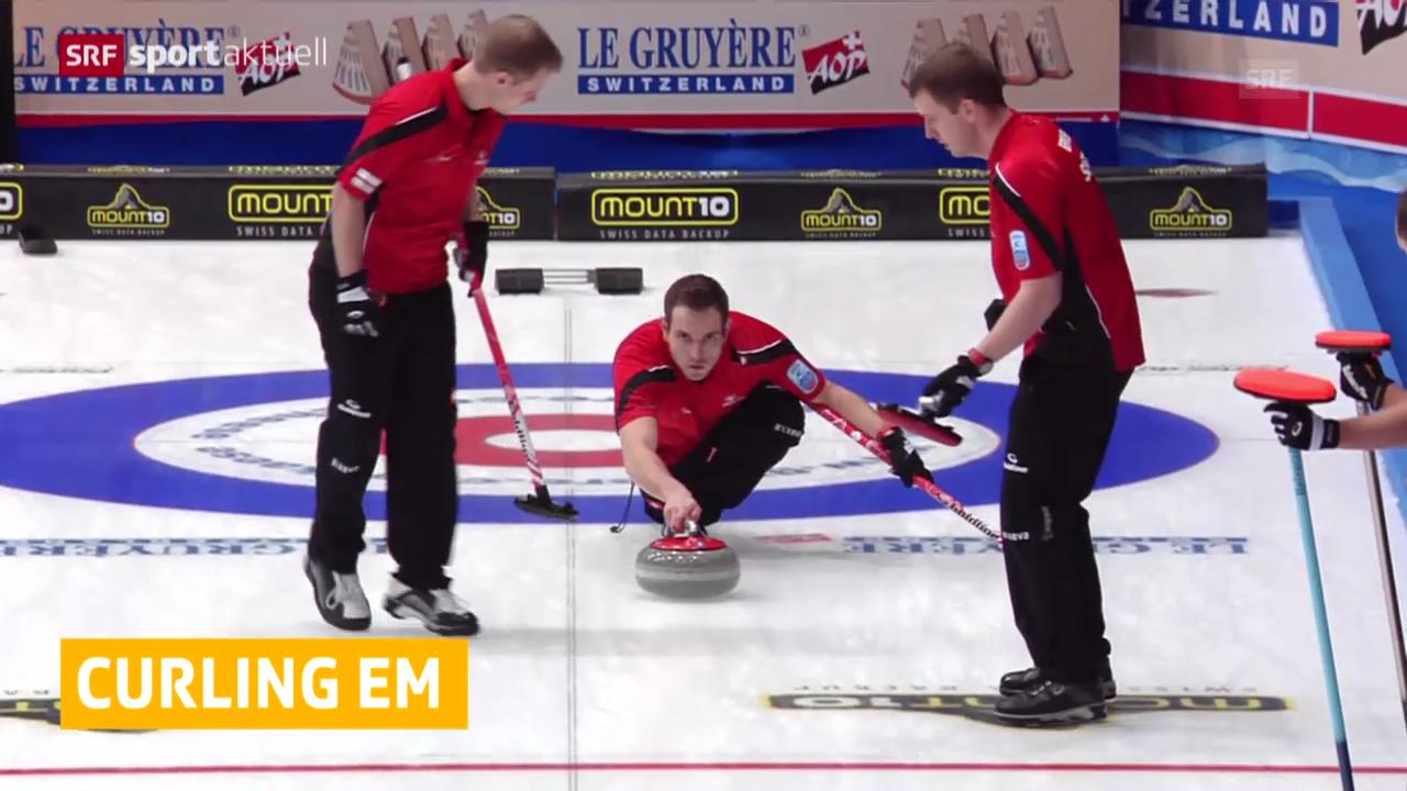 Curling: EM in Champéry, Schweiz startet mit Sieg und Niederlage