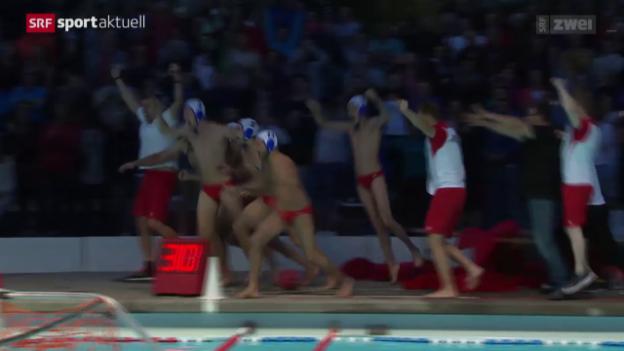 Video «Wasserball: Playoff-Final, 4. Runde Horgen - Lugano» abspielen