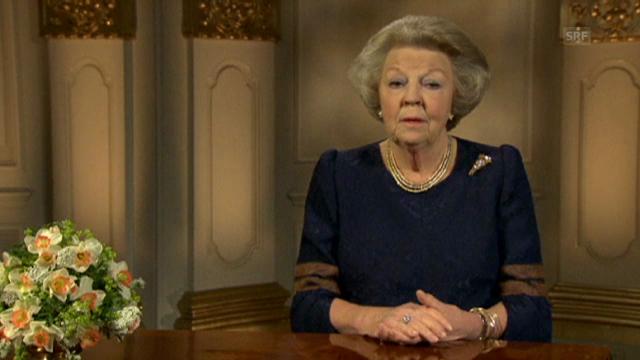 Beatrix' letzte Rede als Königin