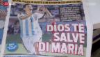 Video «FIFA WM 2014: Argentinien nach der Viertelfinal-Quali» abspielen