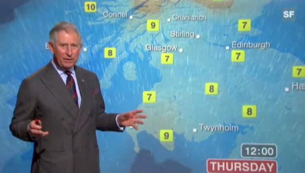 Video «Prinz Charles als Wetterfrosch (unkommentiertes Video)» abspielen