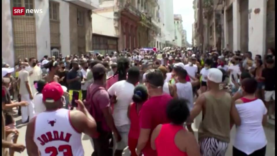 Regierung in Kuba greift gewaltsam gegen landesweite Demonstrationen durch