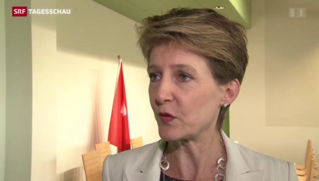 Video «Bundespräsidentin Sommaruga zur EU-Debatte» abspielen