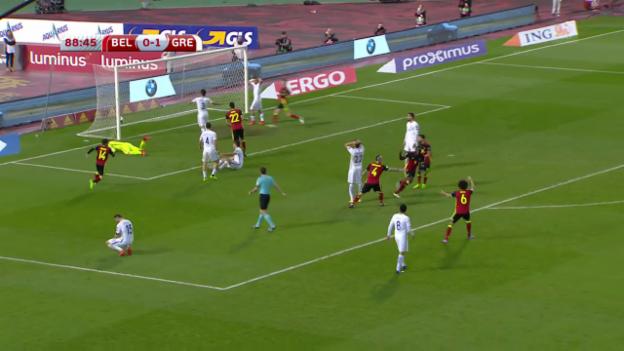 Video «Lukaku rettet Belgien gegen Griechenland» abspielen
