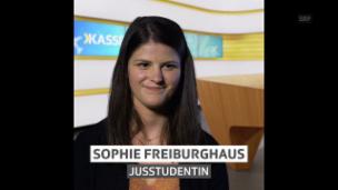 Video «Sophie Freiburghaus, für «Hallo SRF!» bei Kassensturz» abspielen
