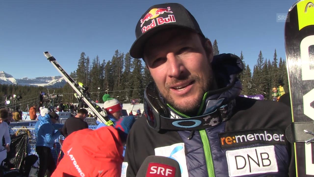 Ski: Super-G Lake Louise, Interview Svindal