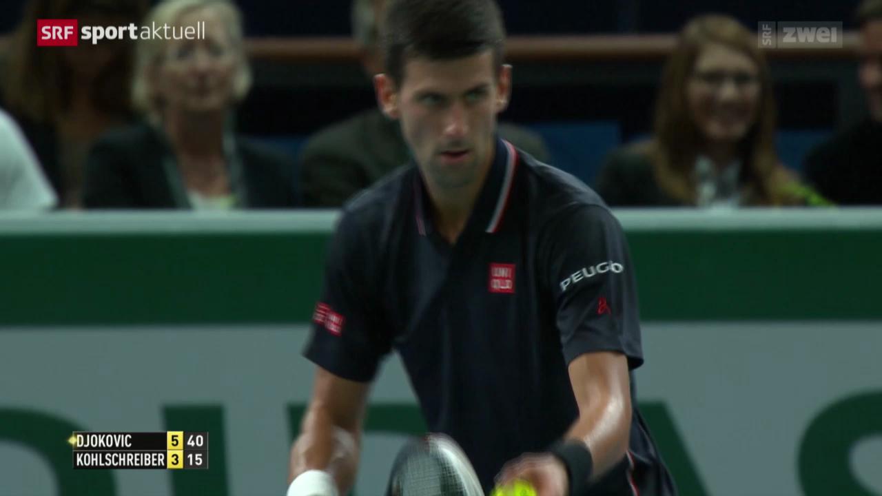 Djokovic - Kohlschreiber in Paris