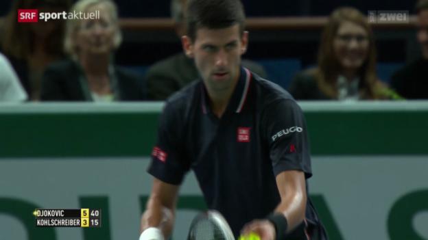 Video «Djokovic - Kohlschreiber in Paris» abspielen