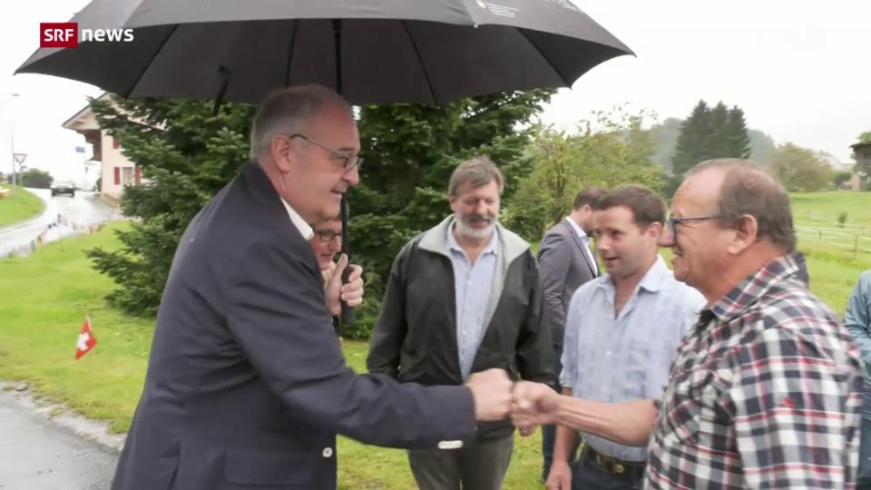 Bundespräsident Parmelin am 1. August beim «Buurezmorge»