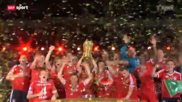 Video «DFB-Pokal: Stuttgart - Bayern München» abspielen