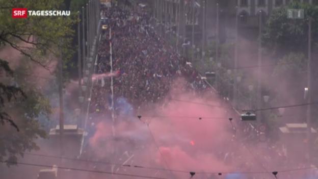 Video «Fussball-Ausschreitungen in Bern» abspielen