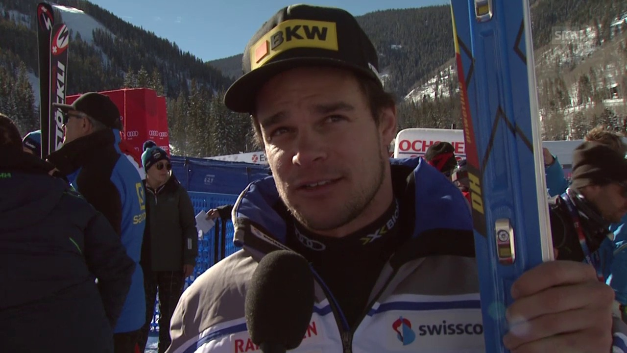 Ski: Abfahrtstraining Beaver Creek, Interview Patrick Küng