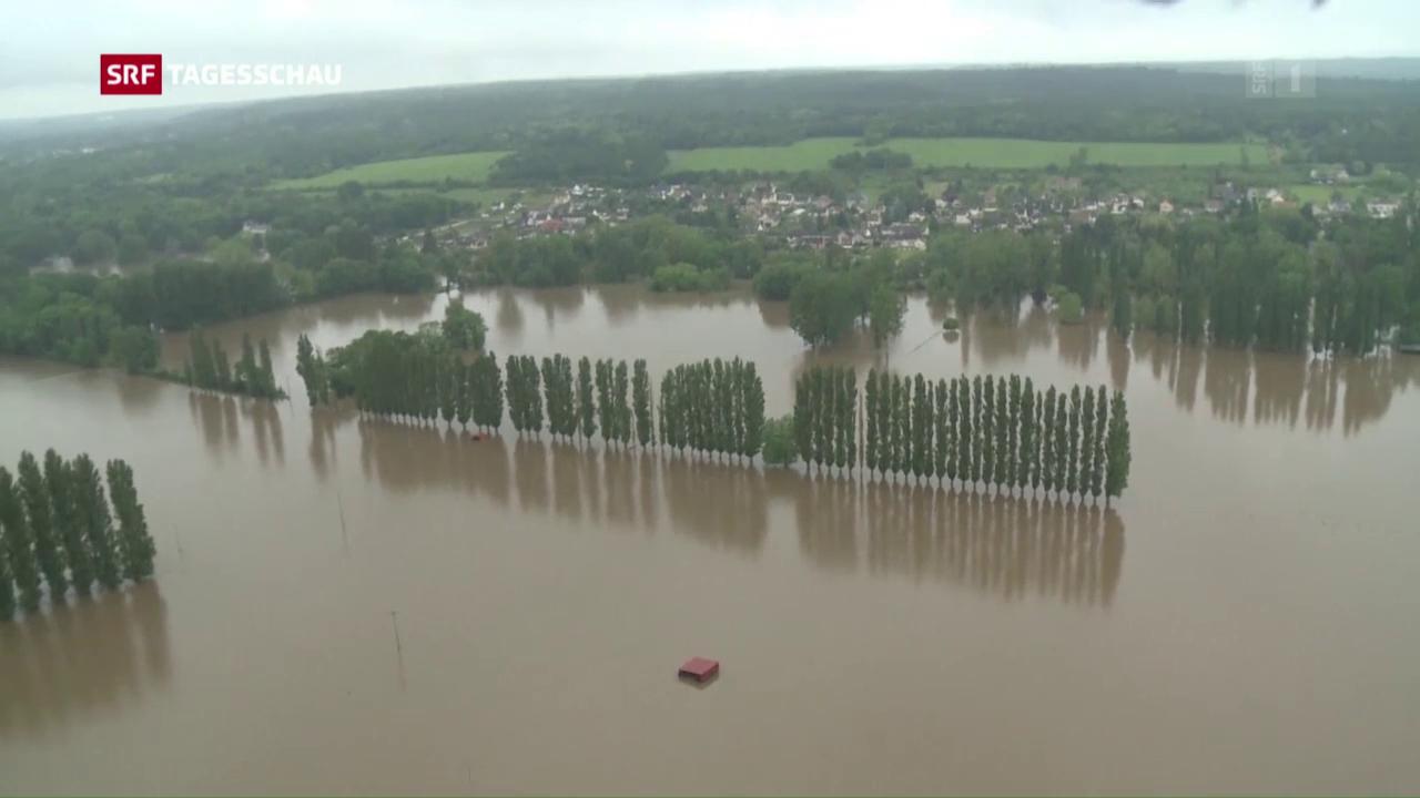Hochwasserlage in Frankreich und Deutschland bleibt angespannt