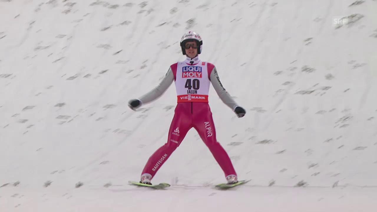 Skispringen: Nordisch-WM in Falun, 1. Sprung von Simon Ammann