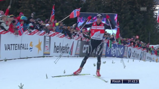 Video «Langlauf: Tour de Ski 2011/12, Gesamtsieg Dario Cologna» abspielen